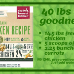 graphic of the healthy ingredients of the honest kitchen dog food