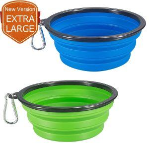 photo of 2 collapsible dog bowls
