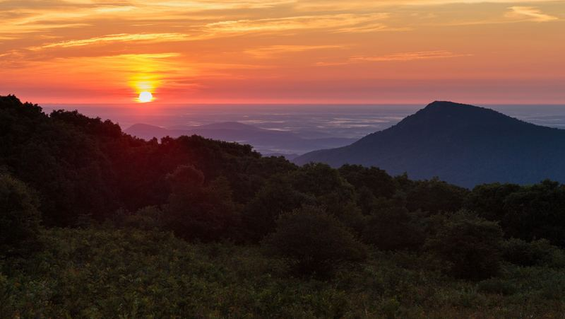 Sunset over shenandoah